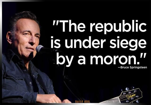 Funny Quotes About Donald Trump by Comedians and Celebrities: Bruce Springsteen Calls Trump a Moron