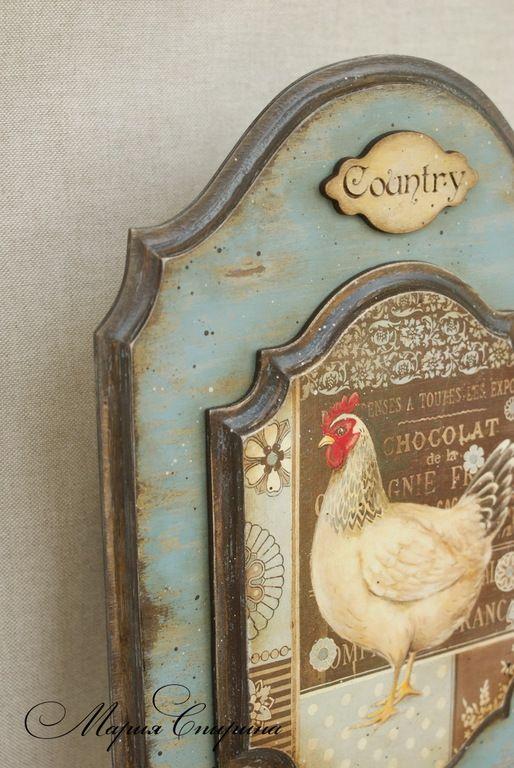 """Купить Вешалка """"Co-Co-Country"""", ретро-вешалка, ключница - вешалка, Вешалка для полотенец"""