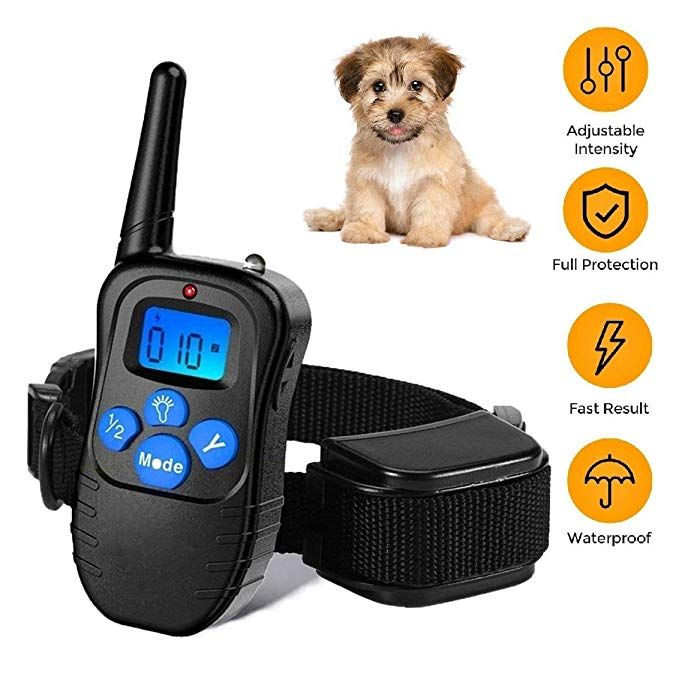 Runpettee Dog Training Collar Rechargeable Rainproof 330 Yd Remote