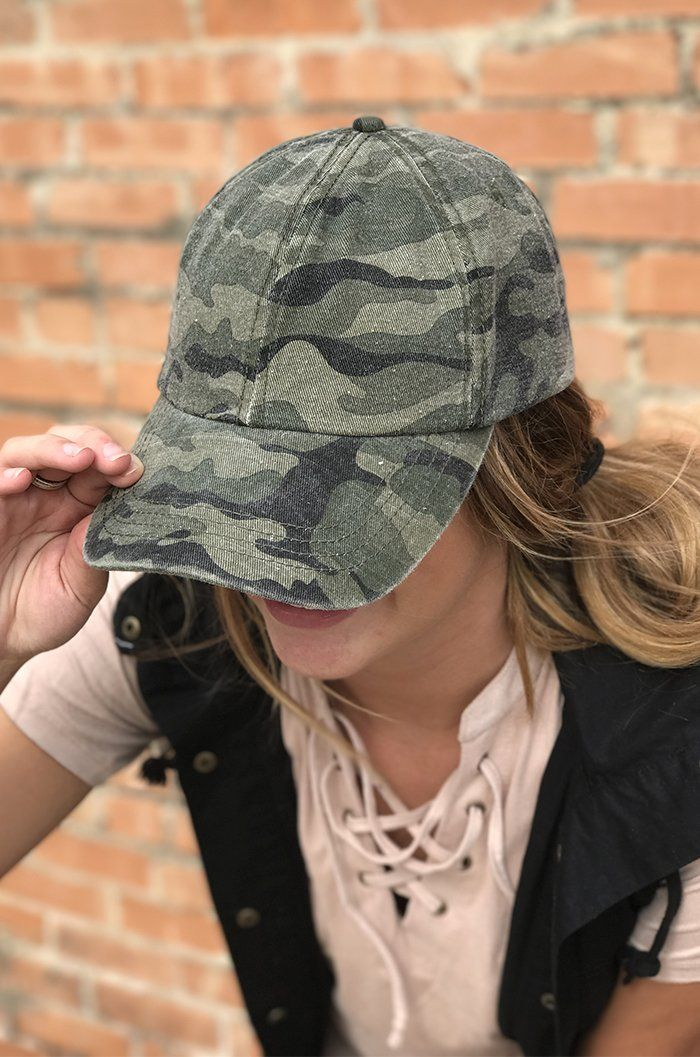 Washed Camo Hat