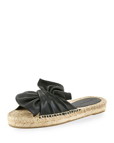PATRICIA GREEN KNOT SLIDE ESPADRILLE SANDAL. #patriciagreen #shoes #
