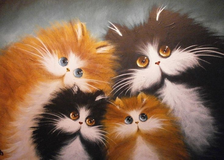 ARTFINDER: Happy families by Alan Brunt - Fat cat collection, numbered, collectable and popular..