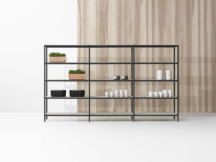 Vipp rack system - modular shelving units. Interior storage solutions developed from a Danish design tradition.
