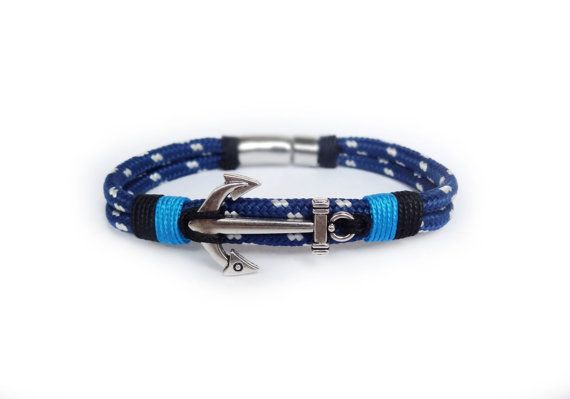 Anchor bracelet/Nautical bracelet/Men's Bracelet/Paracord Bracelet/Nautische armband/Rope bracelet/Nautical wristband.