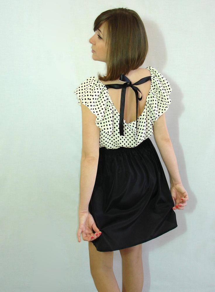 Block color dot dress www.meunique.gr