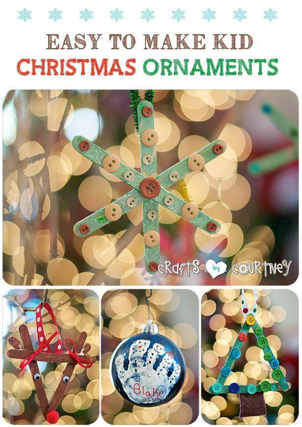 4 Easy-to Make DIY Kid Christmas Ornaments