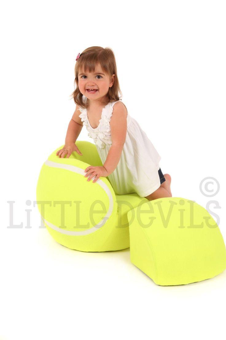 Little Wimbledon Kids Tennis Ball Chair Sport Theme