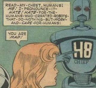 Magnus, l'anti robot est un personnage de fiction créé par Russ Manning en 1963 et publié par Gold Key Comics dans Magnus Robot Fighter 4000 A.D.. Le personnage réapparaîtra dans les années 1990 chez Valiant Comics et Acclaim Comics.  Inspiré de Tarzan (il est élevé par un robot), Magnus, dans chaque publication (l'approche change selon les éditeurs), est, en l'an 4000, un humain capable de lutter à mains nues contre des robots dont il refuse d'être dépendant.
