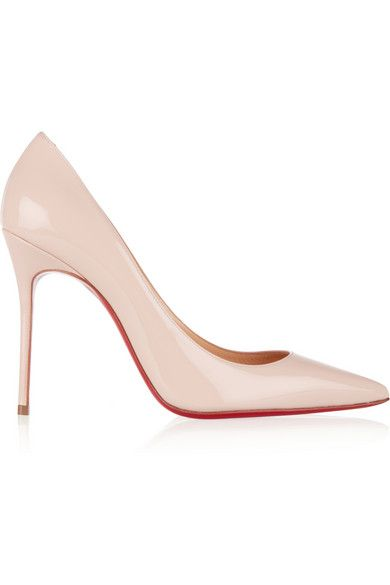 Heel measures approximately 100mm/ 4 inches Baby-pink patent-leather Slip on Designer color: Ballerina Made in Italy