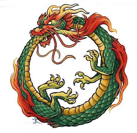 the green dragon ouroboros