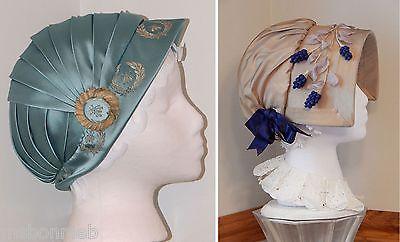 Regency jockey cap and bonnet: