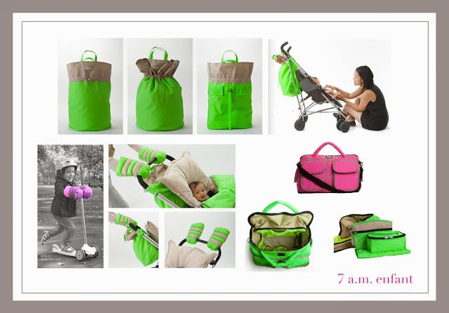 @7AM enfant the ultimate mummy accessories!  hamper bag, voyage diaper bag, warm muffs for kids and grownups #neon #mummystyle #kidsgear