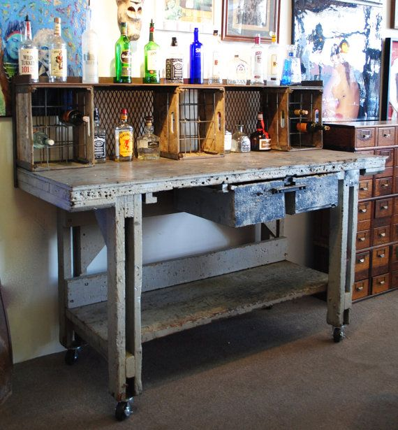 13 best images about industrial outdoor on pinterest for Repurposed metal furniture