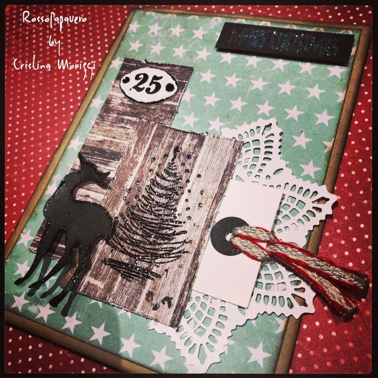 Christmas Card#mixedmedia