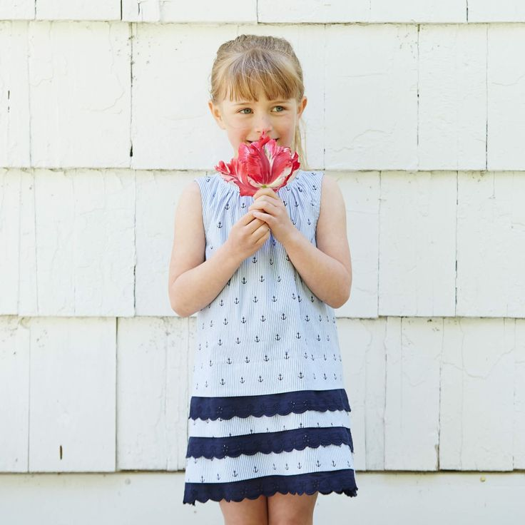 Anchors aweigh! Nautical dresses add a splash of blue to your wardrobe. We love this poised lace dress! Shop via link in bio. #dress #fashion #kidsfashion #nautical #nauticaldress #lacedress