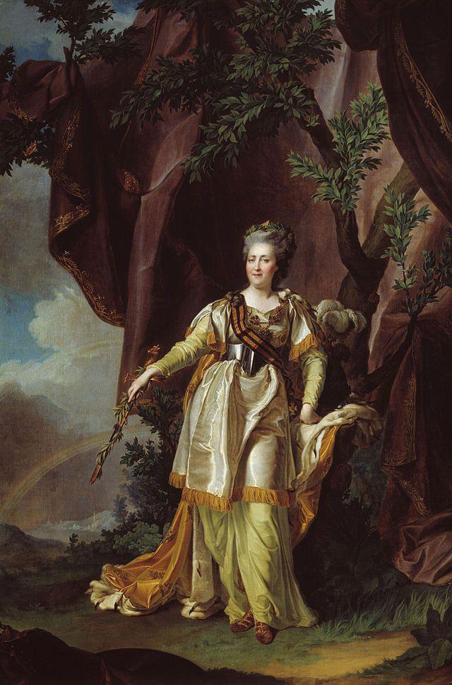 """Retrato de Catarina, a Grande"".  (1787)   ( by Dmitry Grigoryevich Levitsky).  Museu Ulyanovsk."