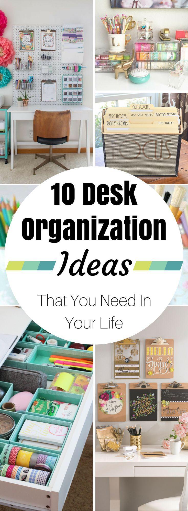 10 Life Changing Desk Organization Ideas Thatu0027ll