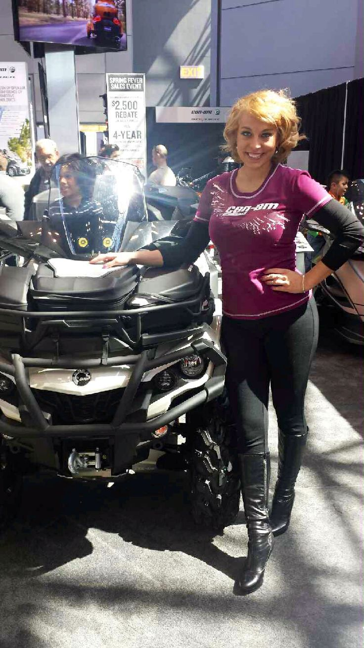 P+ brand ambassador Greta represents Can-Am at the New York International Auto Show 2014
