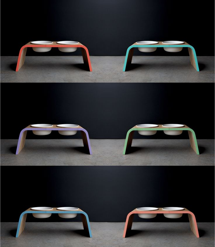 New! Colored edge - Pet Bowl Stands.
