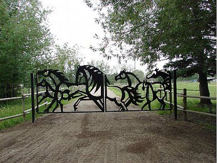Who fancies a gate like this for their dream equestrian home?