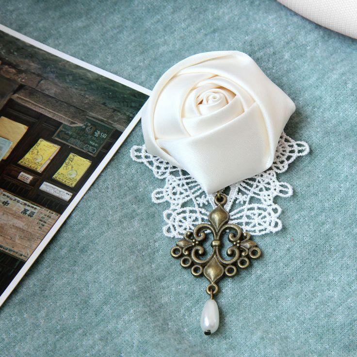 Princess-Sweet-Lolita-jewelry-Ribbon-White-Rose-font-b-handmade-b-font-font-b-lace-b.jpg (750×750)