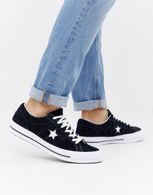 08172069a7f0 Converse One Star Ox Sneakers In Black 158369C in 2019