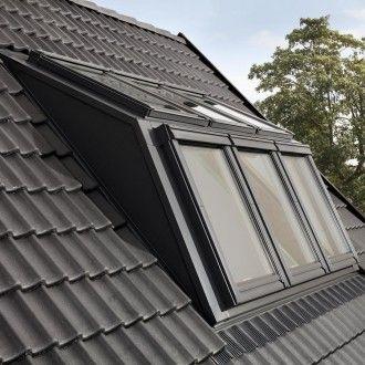 VELUX Dachfenster Lichtlösung PANORAMA Kunststoff THERMO weiß 2×2