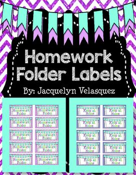 FREEBIE!!! Check out these homework folder labels to help students know what comes back to school and waht stays home!