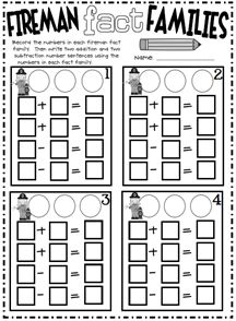 Made for First Grade:  Begin by writing three numbers in the circles at the top of each problem.  Then we shade in the number with