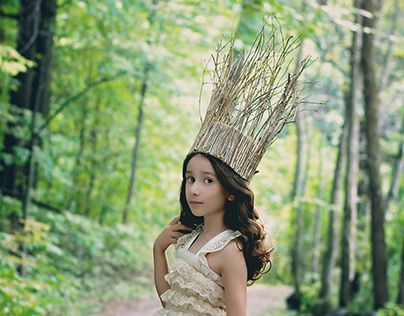 "Check out new work on my @Behance portfolio: ""Woodland Princess"""