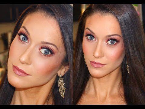 Orange Smokey Eye Makeup Tutorial | Glamour Eyes & Nude Lipstick | Erin Nicole TV
