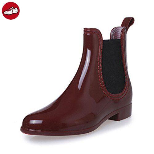 SAGUARO® Damen Kurzschaft Stiefel Gummistiefel Gummistiefeletten Regenstiefel Chelsea Boots - Saguaro schuhe (*Partner-Link)