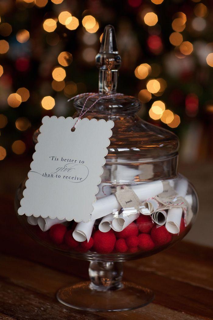 giving jar as advent calendar