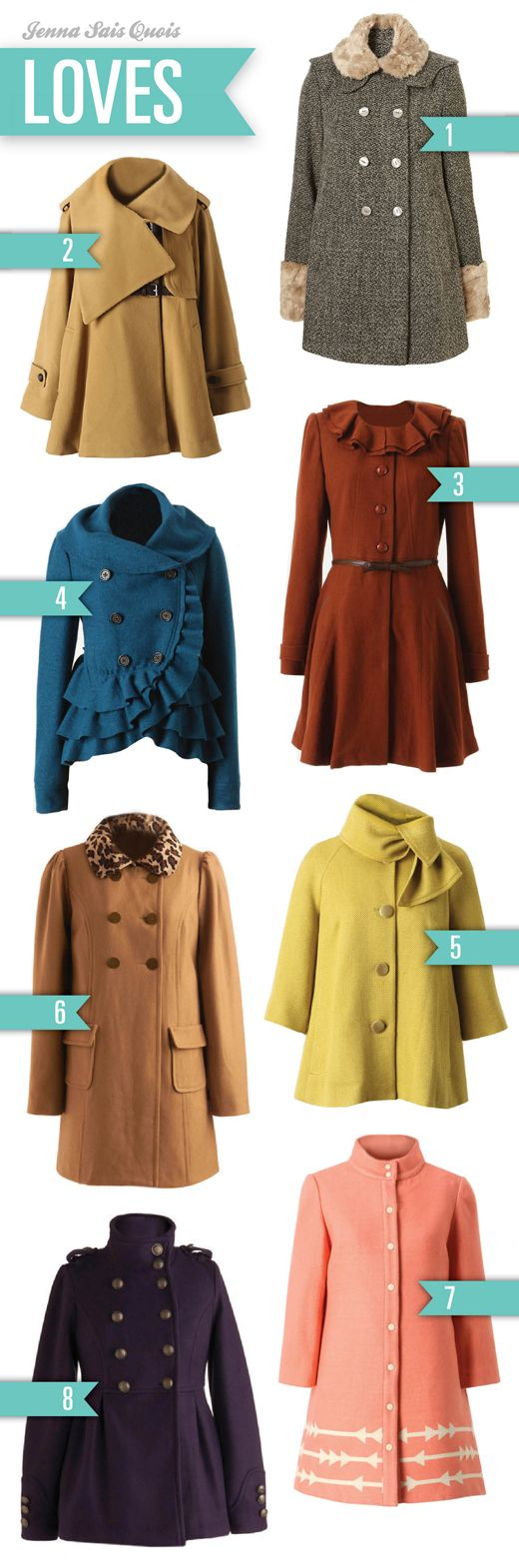 beautiful coats. love the blue one