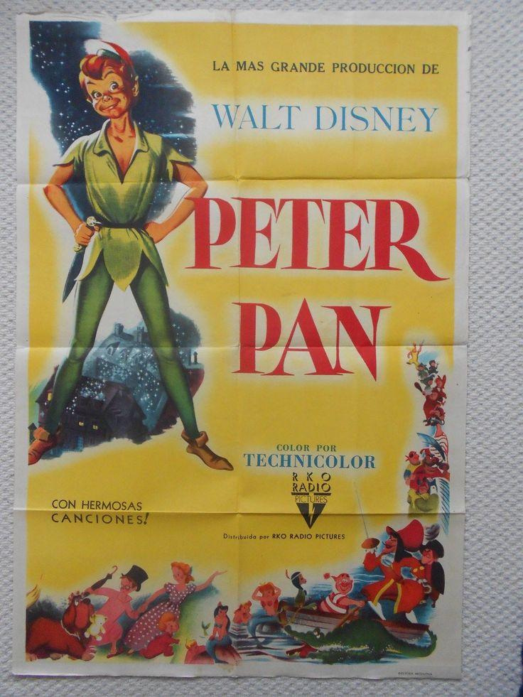 original movie posters | Peter Pan, Original Argentinian Movie Poster, Disney Classic! '53