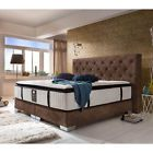 CARMEN DELUXE Boxspringbett Hotelbett Amerikanisches Bett - 180 x 200 cm - Braun
