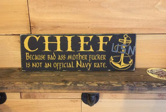 US Navy Chief Sign USN Chief Gift because bad by WoodenItBeNice4