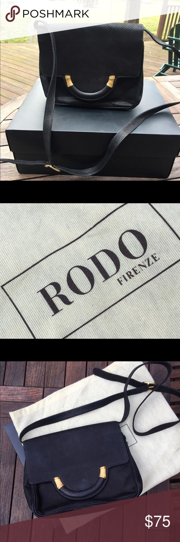 Selling this Rodo Firenze vintage leather shoulder bag, black. on Poshmark! My username is: sootied. #shopmycloset #poshmark #fashion #shopping #style #forsale #Rodo Firenze #Handbags