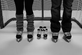 Pregnancy Announcement #baby #hockey