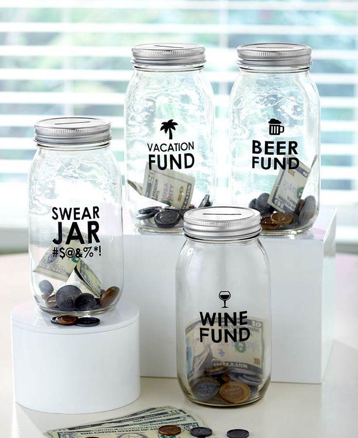 Glass Money Saving Jars Hochzeitsgeschenke Pinterest Savings