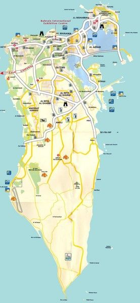 Nice Bahrain Map Tourist Attractions