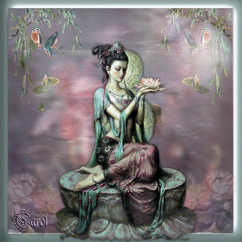 The Bodhisattva Kwan Yin [also known as Avalokiteshvara, Quan Yin, or Kuan Yin] is the one who hears the cries of the world. She has the quality of listening deeply, without judgment or reacting Kwan Yin means the one who can listen and understand the sound of the world, the cries of suffering. - Thich Naht Hanh