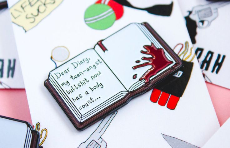 Dear Diary Enamel/Lapel Pin, inspired by Heathers by SarahHell on Etsy https://www.etsy.com/listing/474860680/dear-diary-enamellapel-pin-inspired-by