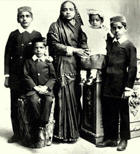 Original Gandhi family- Kasturba Gandhi with her four sons. From left- Hiralal Gandhi, Manilal Gandhi, Ramdas Gandhi and Devdas Gandhi.