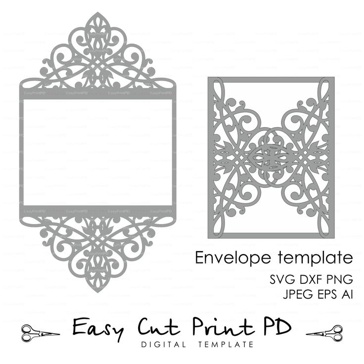 "Wedding invitation Pattern Card 5x7"" Template Lace folds (studio V3 svg dxf ai eps png pdf) lasercut Instant Download Silhouette Cameo"