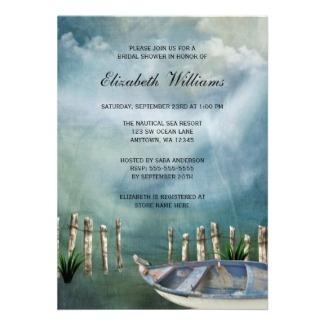 Simply stunning!  Nautical beach bridal shower invites.