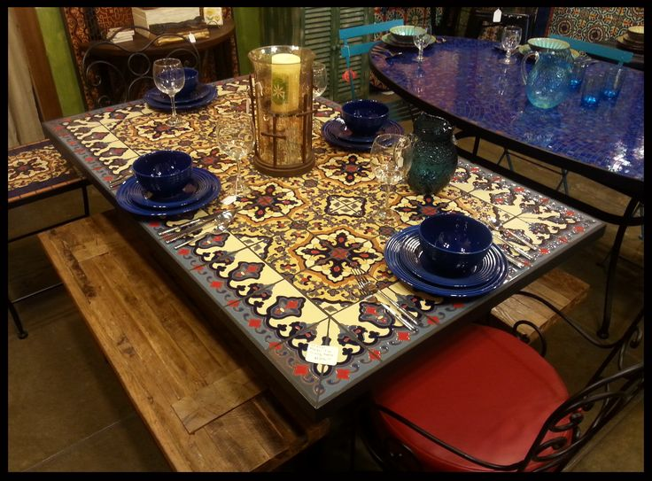 7 Best Dining Tables Tiles Images On Pinterest Mosaic