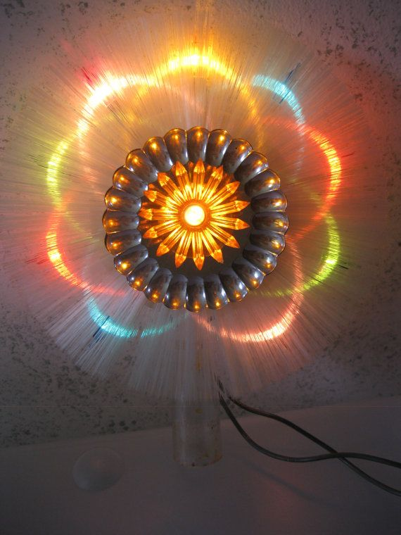 Retro Lighted Christmas Tree Topper by usefullthings on Etsy