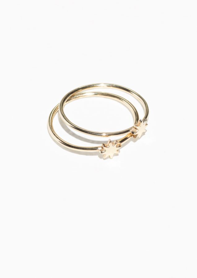 & Other Stories Stacked Star Ring in Gold