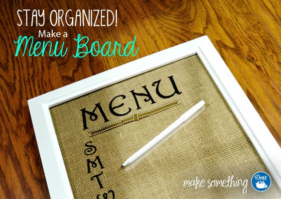 Easy Crafts: Make a Burlap Menu Board, using an iron to attach the letters. #Durathon